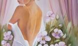 Galantská paleta 2021 - Lišková Mária - Štúdia - žena s kvetmi